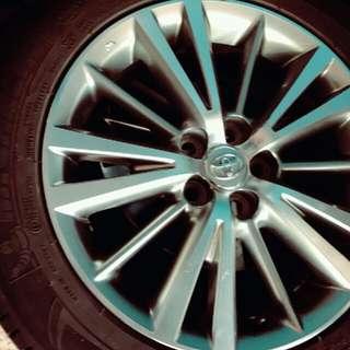 米其林16吋輪胎含框 九成新