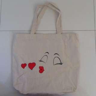 Kiss Canvas Tote/Sling Bag