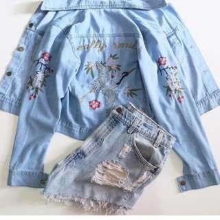Jacket jeans sakura