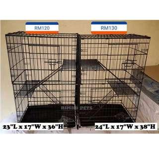🐾 READY STOCK ! 2-Level Cat Cage / Sangkar Kucing 2 Tingkat New