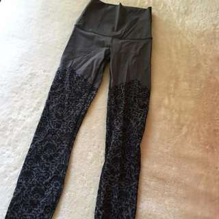 Lululemon size 4 high rise oh la la lace wunder under leggings