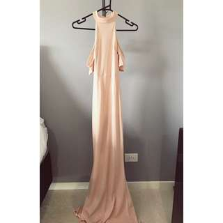 Nude Peach Maxi Dress
