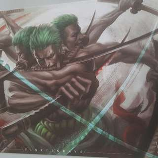 ONEPIECE ZORO A3 POSTER with artist signature