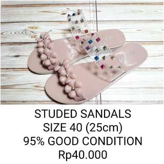 STUDED SANDALS
