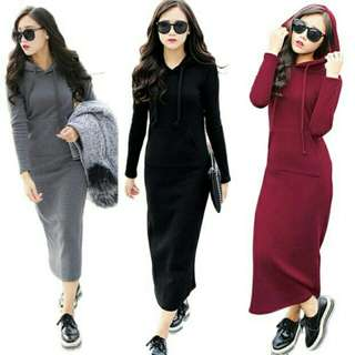 Hoodies Maxi Dress