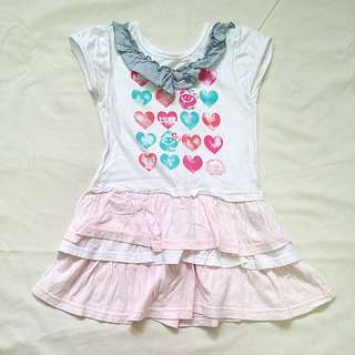Pink/White Dress for Toddler Girls