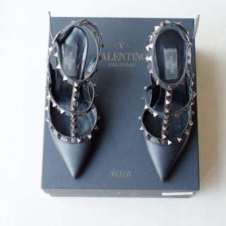 VALENTINO NOIR LEATHER ROCKSTUD SECOND ORIGINAL MURAH