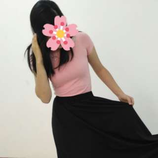 Including postage Pastel pink off shoulder tee