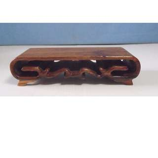 Hand crafted exotic display wood stand netsuke snuff bottle