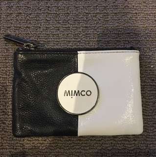 MIMCO BLACK AND WHITE POUCH