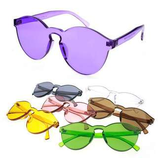 Kacamata transparan / jelly geely / kacamata jelly / jelly eyeglasses / kacamata bening / jelly sunglasses / transparant eyeglasses / candy eyeglasses / kacamata permen / candy sunglasses