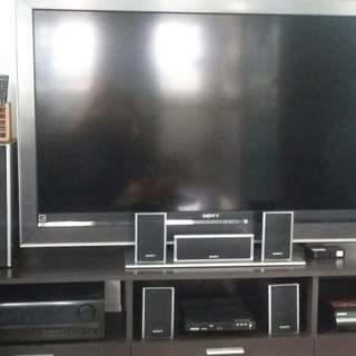 "Sony Bravia ""53"" with dvd player sony home theater 25k nego"