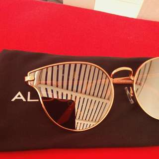 Aldo Rosegold mirrored sunglasses