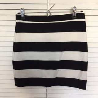 Striped Tight Skirt