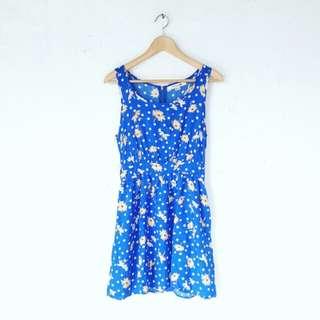 Forever 21 Blue Floral Dress