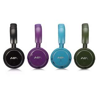 NIA Q1 Over-ear Bluetooth Headphone with Mic Support Micro SD Player / FM Radio / Aux-input