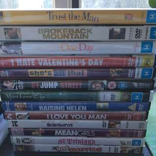 $2 DVDs / movies each
