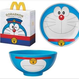 麥當勞Doraemon碗碟套裝
