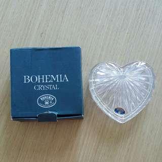 (Gift)  crystal box heart shape . 心型水晶盒