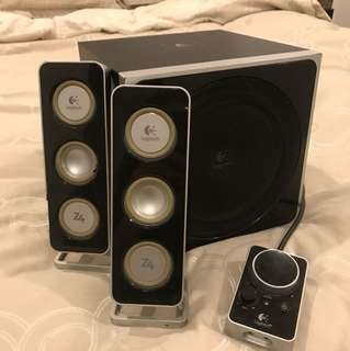 Logitech Z4 Speakers + Subwoofer