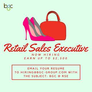 Permanent Retail Assistants (Earn up to $2,500)