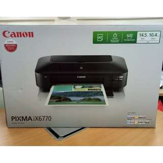 Canon Pixma IX6770 5 Colors A3+ Printer (Black)