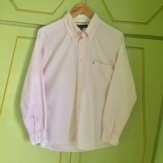 *REPRICED* Authentic Tommy Hilfiger Pink Oxford Button Down Shirt