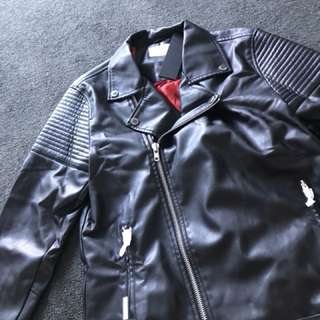 Saint morta leather biker jacket