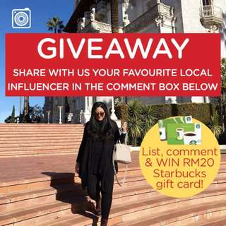 Giveaway: WIN RM20 Starbucks gift card!