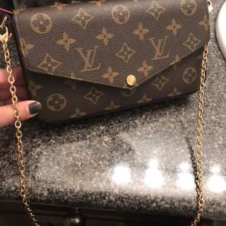 Louis Vuitton wallet on chain
