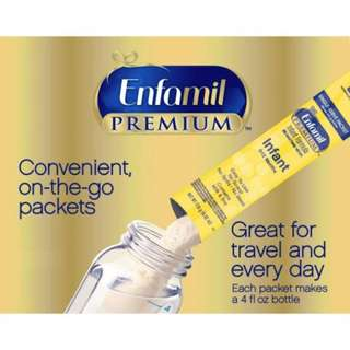 Enfamil PREMIUM Infant Formula Single-Serve Powder Packets, From Birth - 12 Months, Priced per Packet, Minimum of 10 per Purchase
