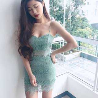 Mint green lace set
