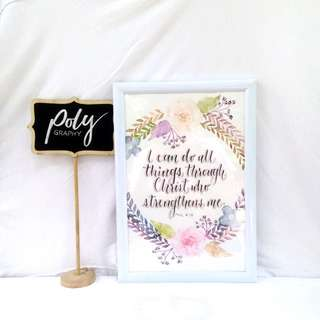 Calligraphy and Florals