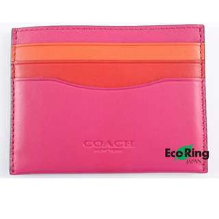 Coach Card Case Glovetanned Leather