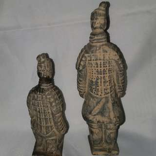 OLD CHINESE SOLDIERS (TERRACOTTA WARRIORS) In Pair