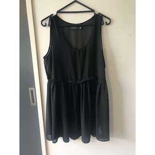 CHIFFON BLACK DRESS