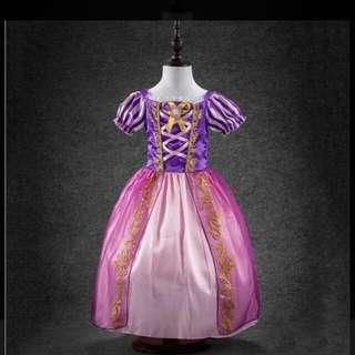 長髮公主萬聖節服裝,洋裝。