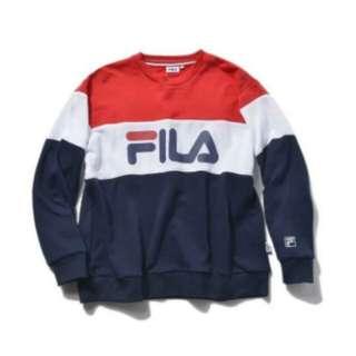 [PO] Authentic Fila Classic Logo Pullover