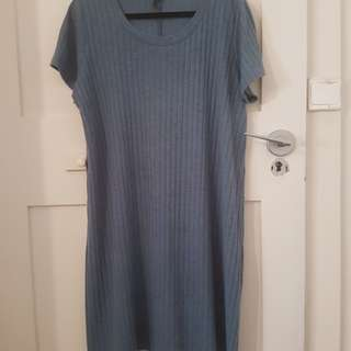Cotton on ribbed dress, size L