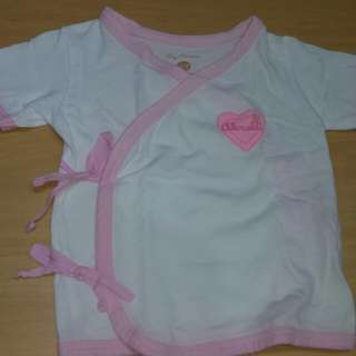 Tiny Tummies tie side shirt for nebworn girl