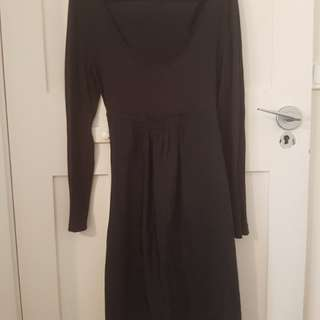 Black mixed fabric Witchery dress