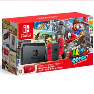 任天堂 Switch + Super Mario Odyssey set(送mon 貼)行貨