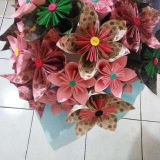 PO bunga bouquet kertas