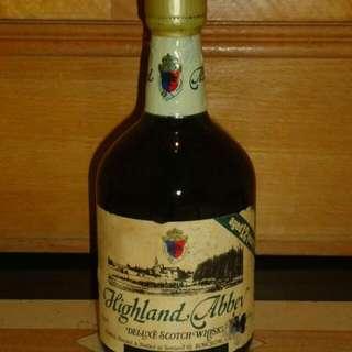 巳降價 舊酒 Highland Abbey 12 Yr 43% 76cl Blended Whisky 蘇格蘭 調和 威士忌(冇盒)