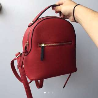 Red little backpack