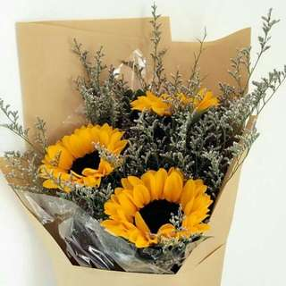 3 stalks Sunflower Bouquet - 0046
