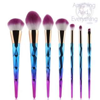 Cute Unicorn Brush Set (Rhinestone)