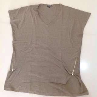 WAREHOUSE TEE BIG SIZE WITH ZIPPERS ON SIDES