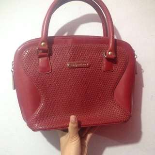 AUTHENTIC Polo and Ralph Lauren Handbag in red