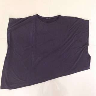ZARA BIG SIZE SHIRT/PONCHO BLACK PRELOVED